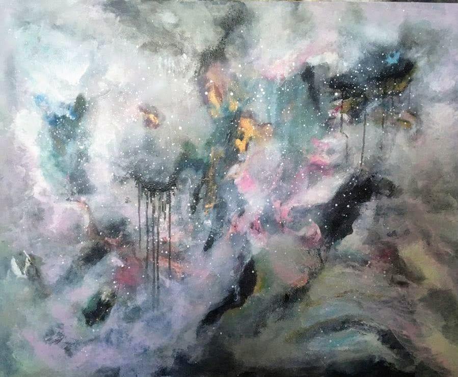 abstrakt konst canvas